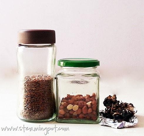 Flaxseed, Peanuts, Tamarind