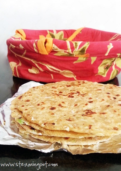Cabbage Paratha, Up Close