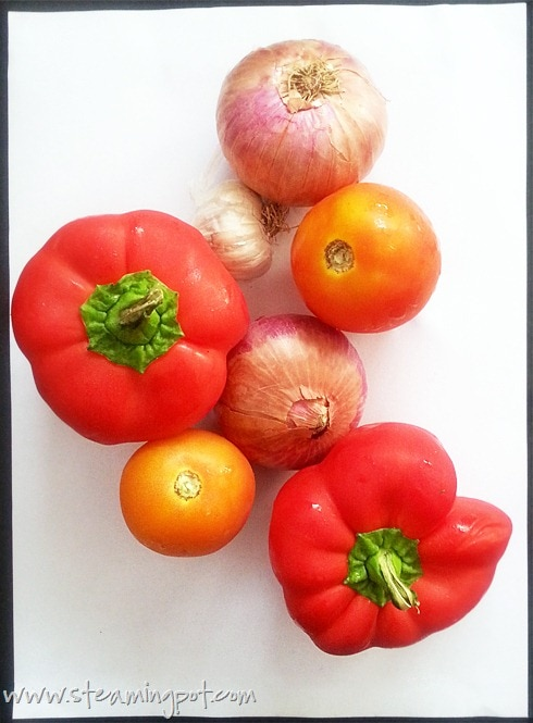 Red Bell Pepper Curry Ingredients