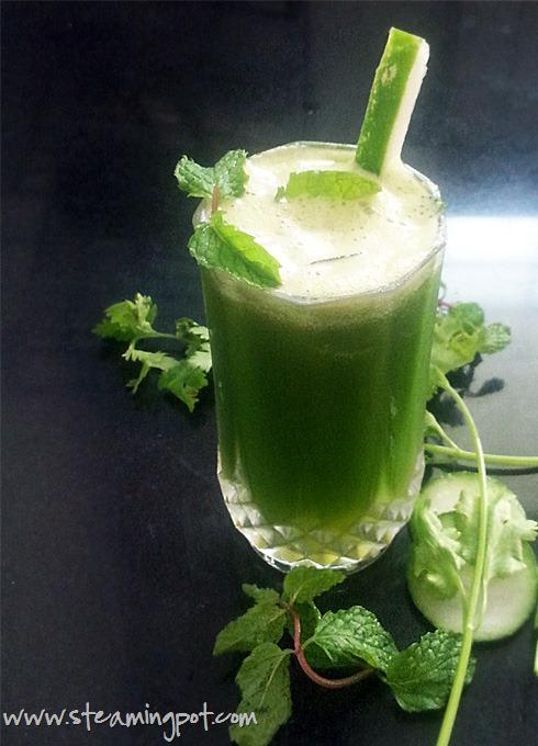 Cucumber Mint Coriander Juice