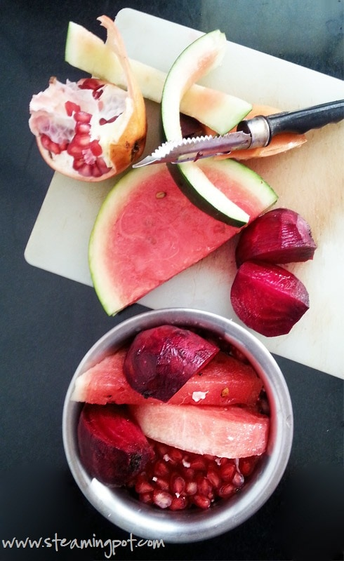 Watermelon, Pomegranate and Beetroot