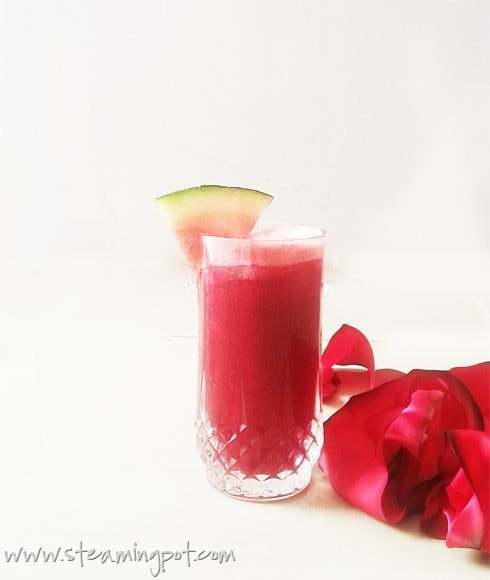 Watermelon Pomegranate Juice with Beetroot