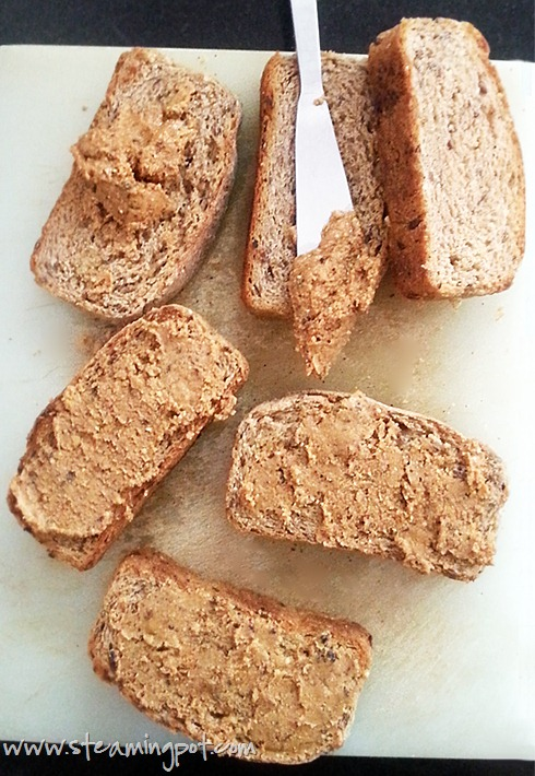 Homemade Peanut Butter on Bread