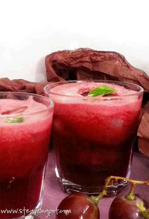 Dark Grape Beetroot Basil Juice