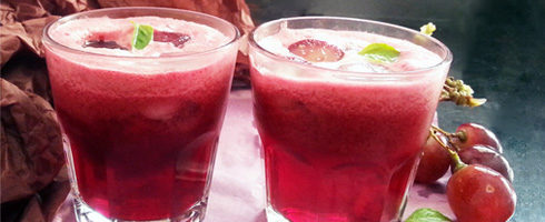 Grape Beetroot Basil Juice