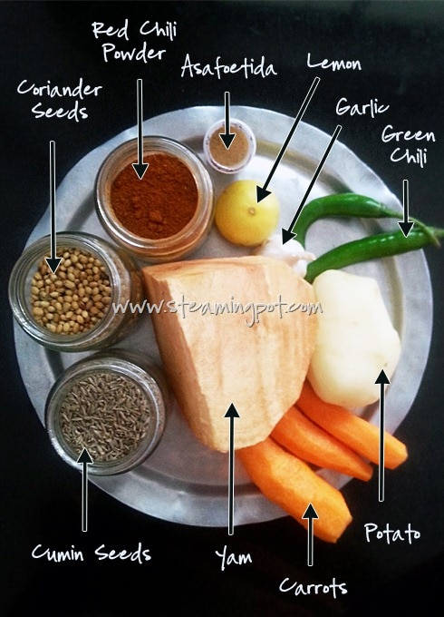 Khad Ki Sabzi Ingredients