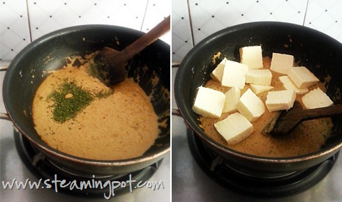 Paneer Butter Masala Curry Cooking