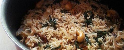 Mint Cashew Pulao