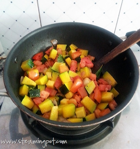 Pumpkin and Tomatoes, Cooking