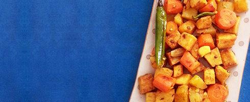 Khad ki Sabzi: Yam, Carrot, Potato Medley