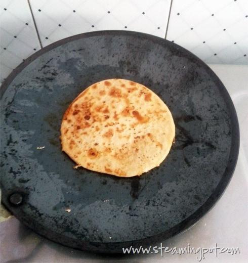 Gur ka Paratha Cooking - Side 2