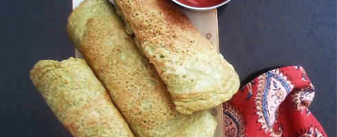 Hare Moong ka Cheela - Green Gram Pancake