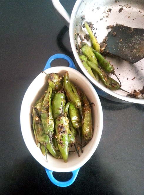 Bhuni Mirch - Green Chili Fry