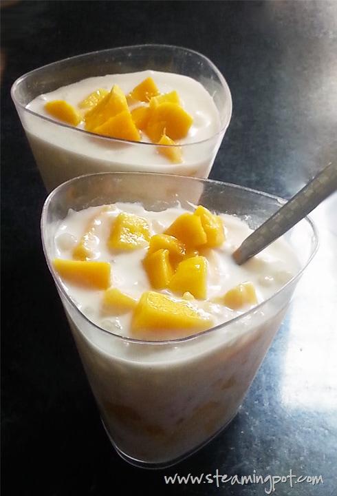 Sabudana Cocunut Milk Pudding