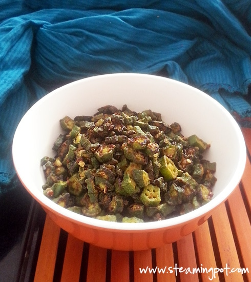 Kurkuri Bhindi: Crisp Okra Discs