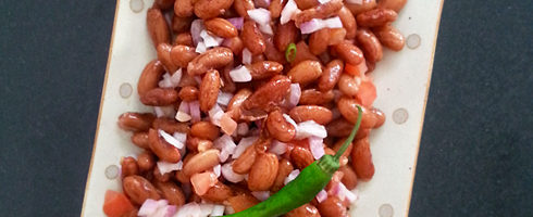 Rajma Chaat - Kidney Bean Salad