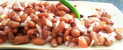 Rajma Chaat - Kidney Bean Spicy Salad