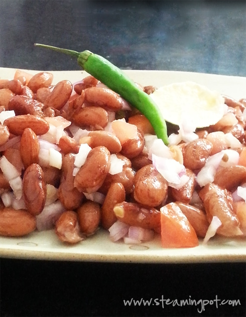 Rajma Chaat - Kidney Bean Vegan Salad