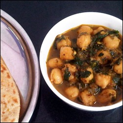 Methi Chhole: Fenugreek Leaves and Chickpeas
