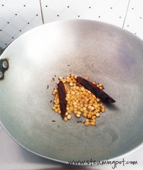 Chana Dal Frying