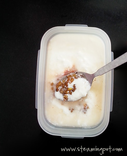 Yogurt with Fenugreek