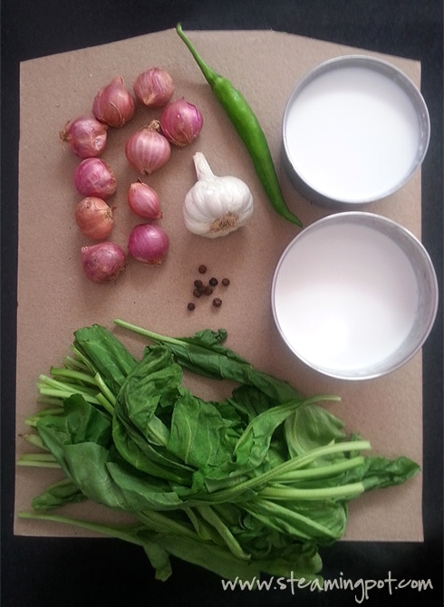 ... to make spinach in spiced coconut milk 1 prepare spiced coconut milk