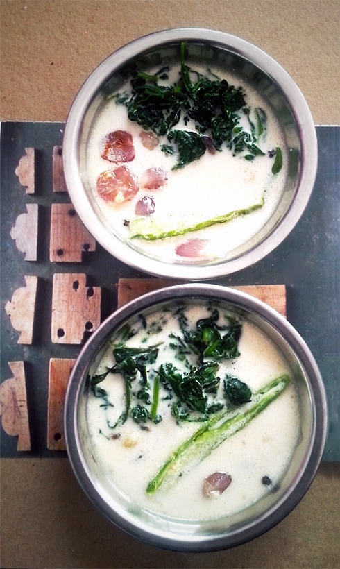 Spinach in Spiced Coconut Milk