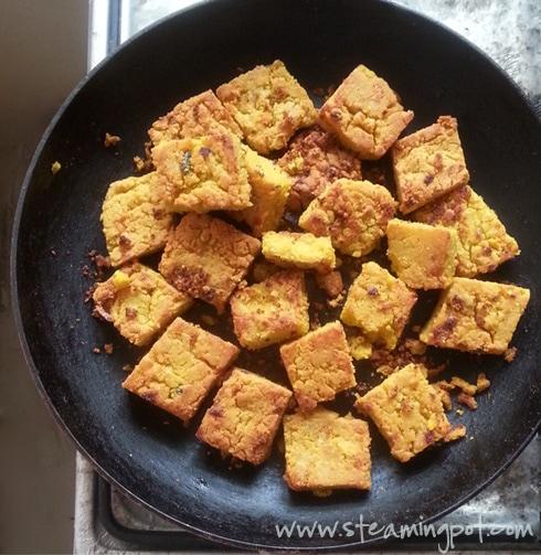 Besan Squares Fried