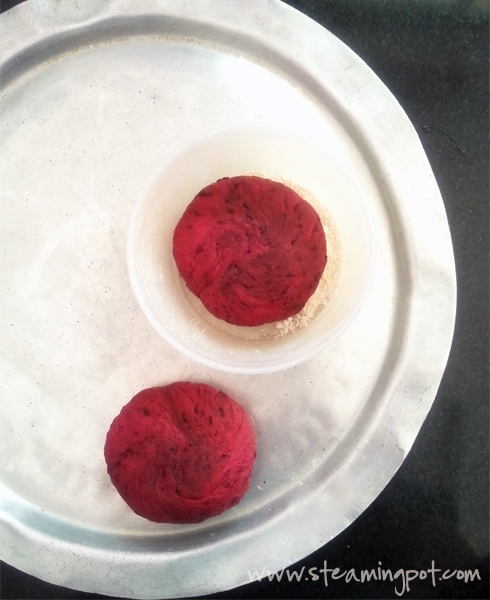 Beetroot Paratha Dough Balls