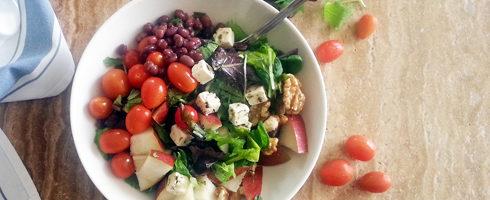 Adzuki Bean Leafy Salad