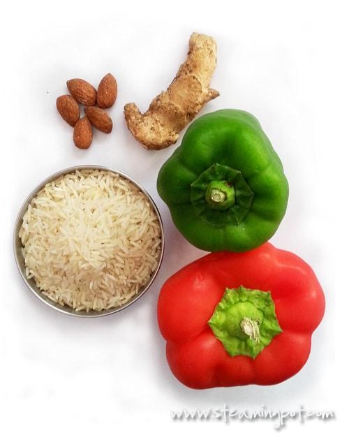 Bell Pepper Rice Ingredients
