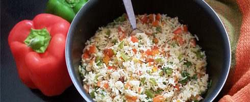 Colorful Rice with Bell Peppers tn
