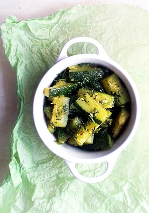 Zucchini Lemon Coriander
