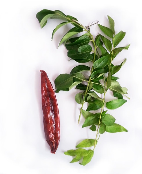 Curry Leaves, Dry Red Chili