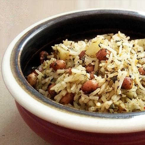 Fenugreek Peanut Rice