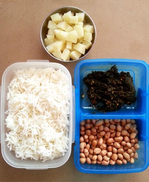 Methi Moongphali Rice Ingredients