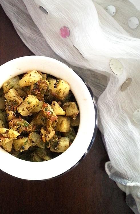Masala Radish Fry - Mooli Fry