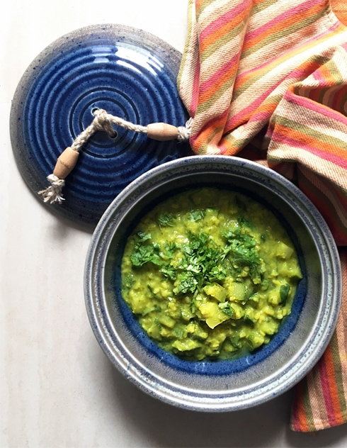 Moong Dal with Zucchini and Coriander