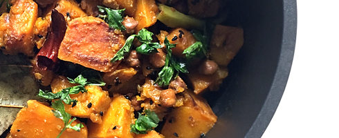 Pumpkin Black Chickpea Curry