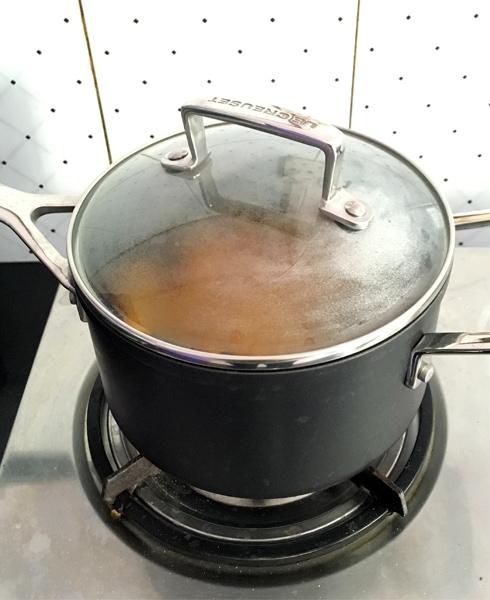 Pumpkin Cooking in Closed Pan