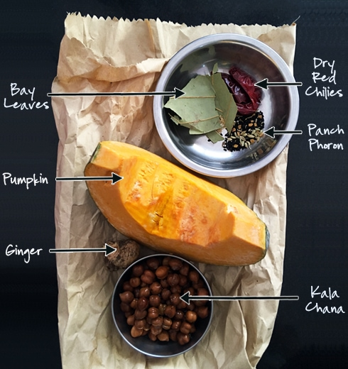 Pumpkin Kala Chana Ingredients