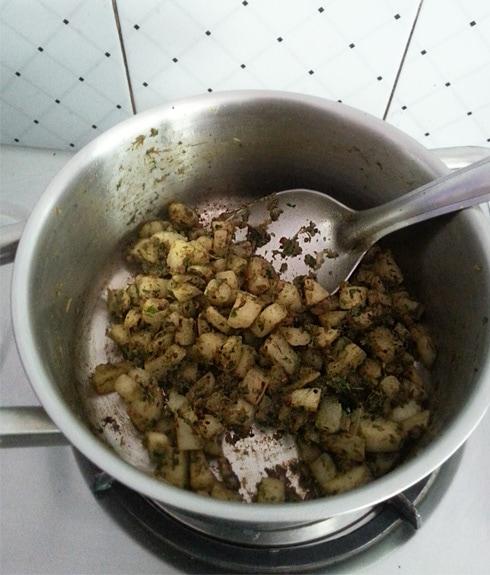 Radish Mixed with Masala Paste