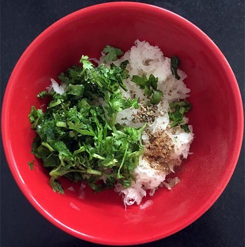 Grated Radish with Seasoning