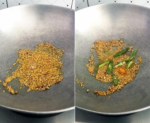 Mustard Coriander Masala, Cooking