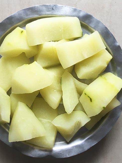 Boiled Raw Papaya