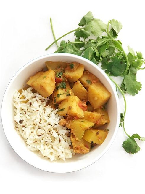 Potato Pumpkin Masala Curry