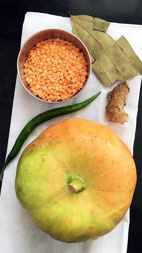Pumpkin, Red Lentil, Bay Leaf, Ginger