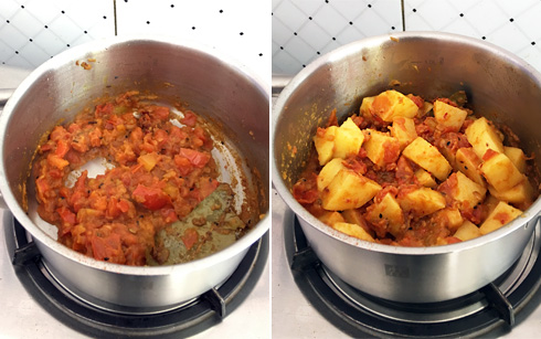 Tomatoes and Potatoes, Cooking